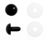Trimits Toy Solid Safety Eyes Black 9mm Pack of 8